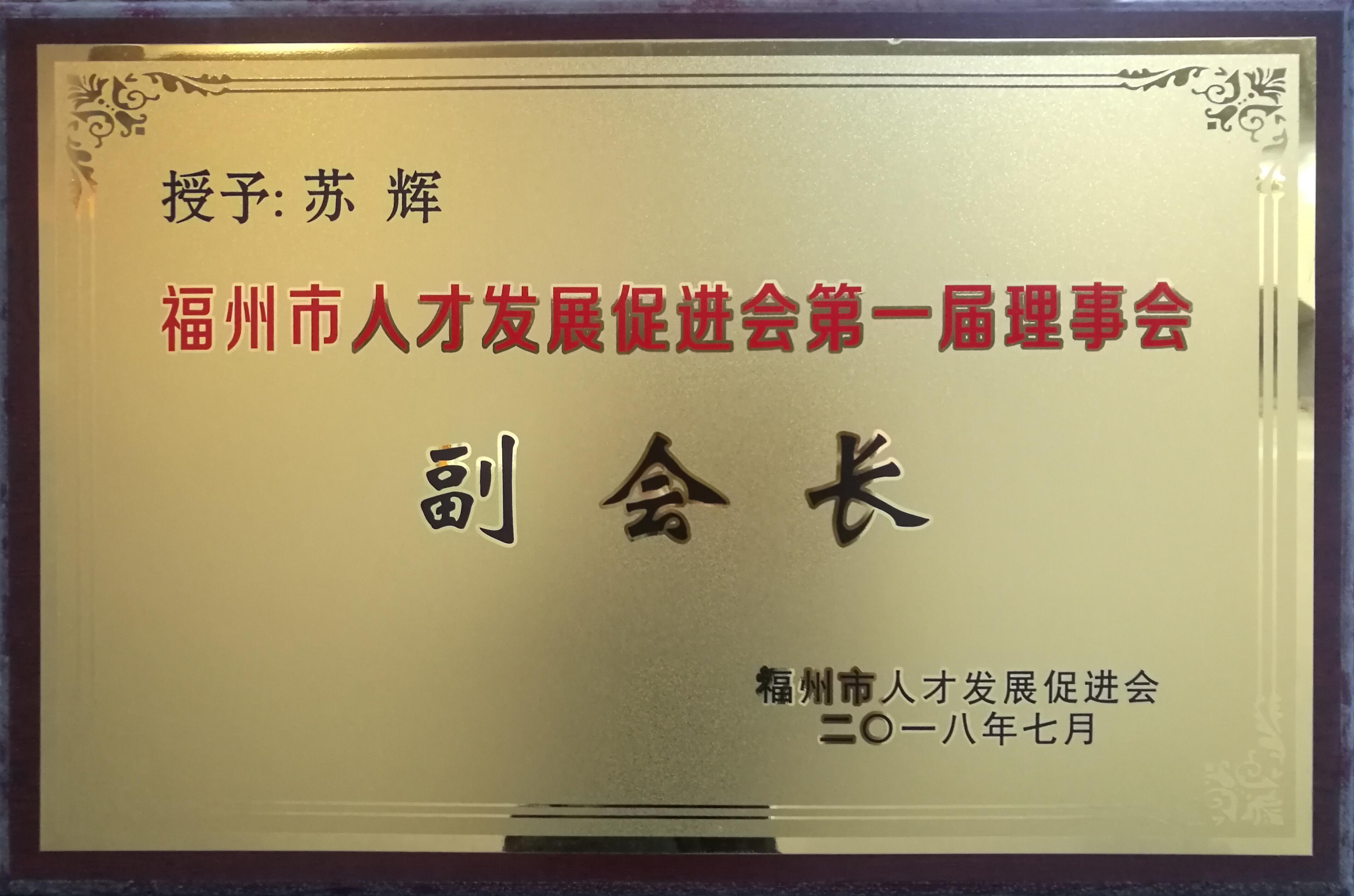 福州市人才發展促進會第一屆理事會副會長-蘇輝