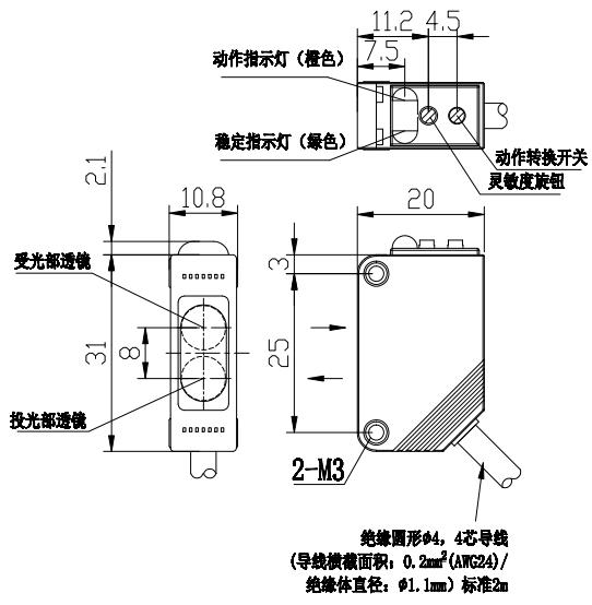 E3Z尺寸图