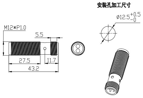 M12尺寸图