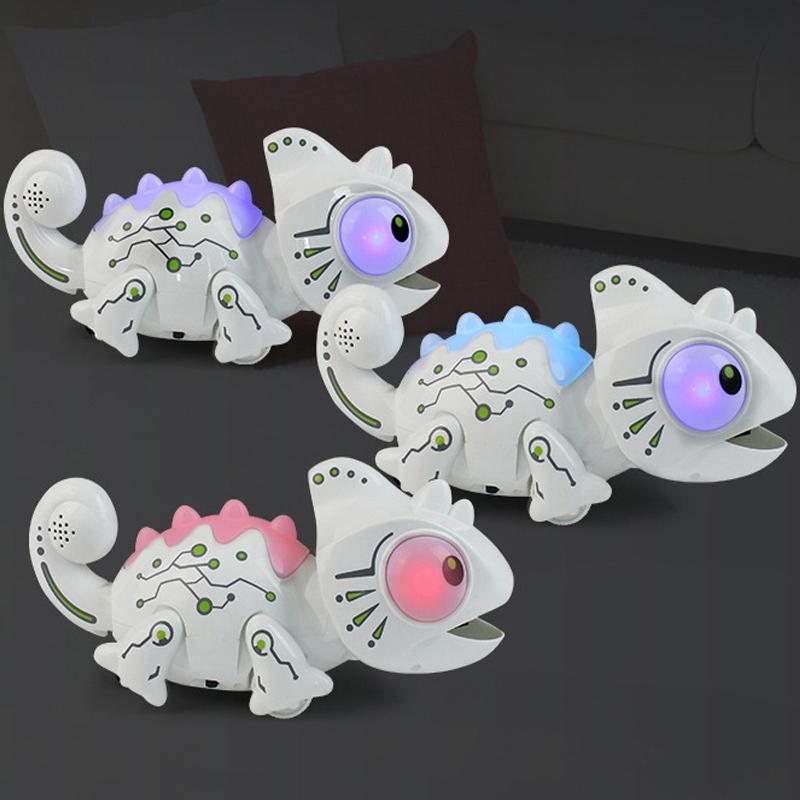 Chameleon Robot: RC Robotic Chameleon Color Change Light Bug Catching