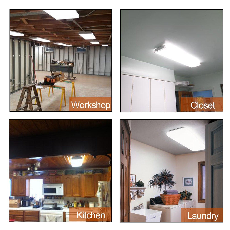 AntLux 4ft LED Garage Shop Lights LED Wraparound Light