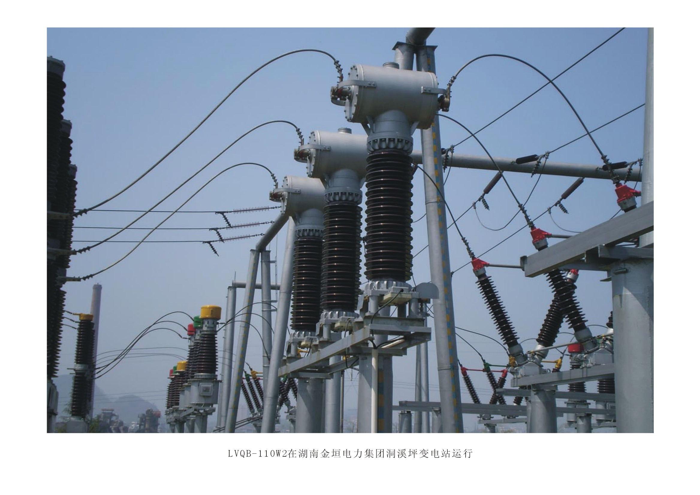 55LVQB-110W2在湖南金垣電力集團洞溪坪變電站運行