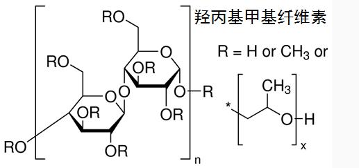 建材级羟丙基甲基纤维素结构式