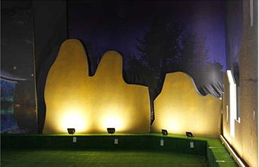 Exhibitionhall-projectorlight