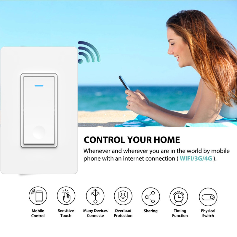 Tuya US WiFi Smart Wall Light Switch DS-191 (Tuya / Smart