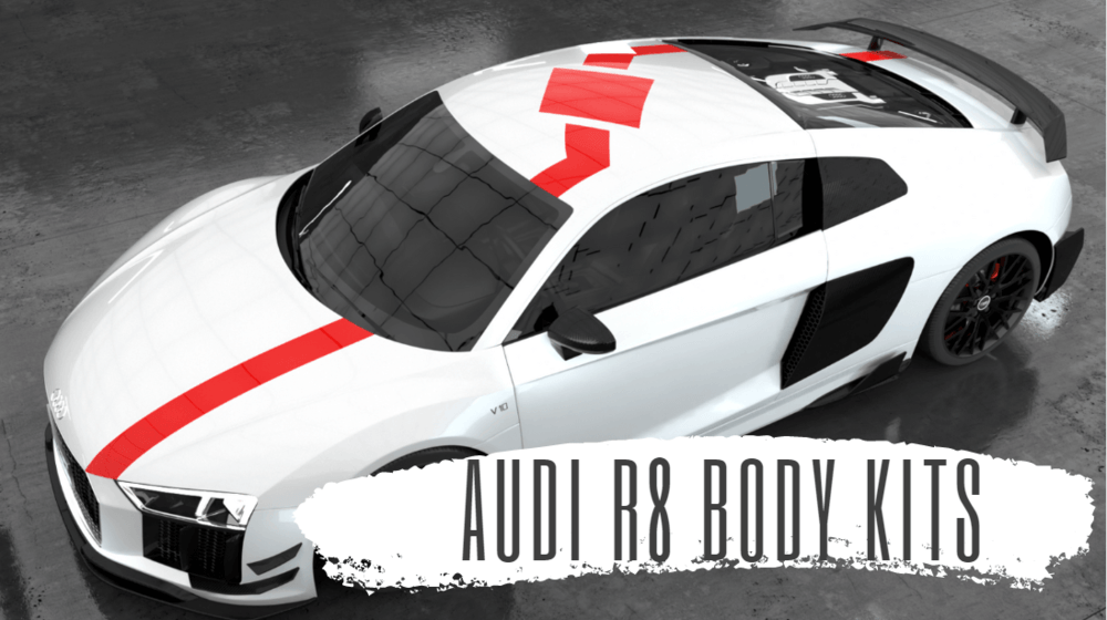 Customize your Audi R8 by Jcsportline auto full carbon fiber body kit