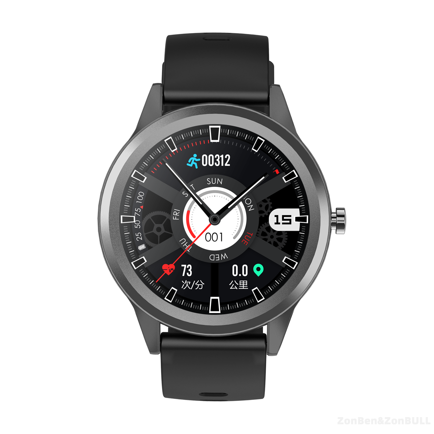 ZB-S35 Zonbull smartwatch (private model). Fitness Tracker Heart Rate Blood Pressure